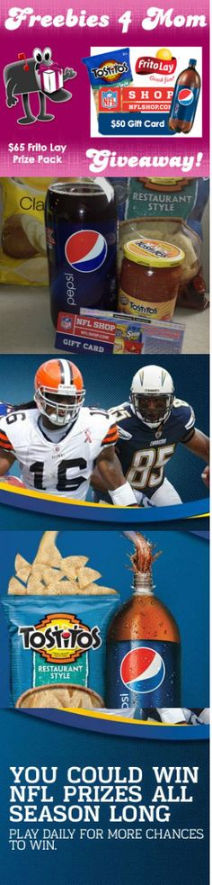 Enter my Frito-Lay Ultimate Tailgate Party Giveaway on http://freebies4mom.com