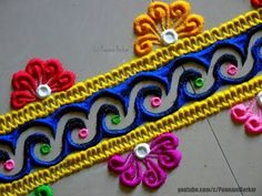 easy and simple/unique border rangoli designs by Jyoti Easy Rangoli Patterns, Easy Rangoli Designs Videos, Indian Rangoli Designs, Rangoli Designs Flower, Rangoli Borders, Rangoli Colours, Rangoli Border Designs, Small Rangoli Design, Colorful Rangoli Designs