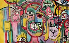 huge painting abstract graffiti for sale!                              …