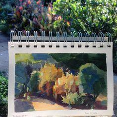 Shelley Liu, Arboretum gouache