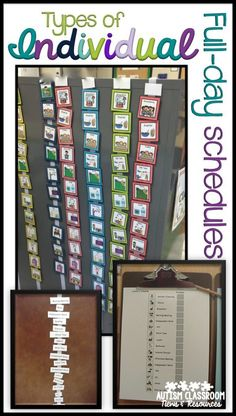 Pictures of individual visual schedules including picture schedules, written…                                                                                                                                                                                 More