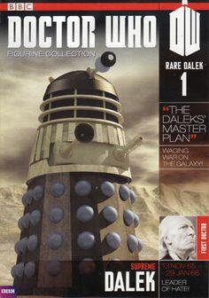 The Doctor Who Figurine Magazine Rare Dalek 1 – Merchandise Guide - The Doctor Who Site Doctor Who Magazine, Doctor Who Merchandise, Dalek, Master Plan, Tardis, Supreme, Husband, Earth, Mother Goddess