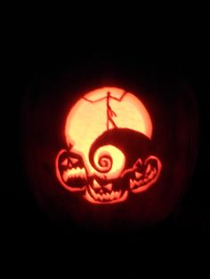 my jack skellington pumpkin carving from a couple years ago...it took forever!