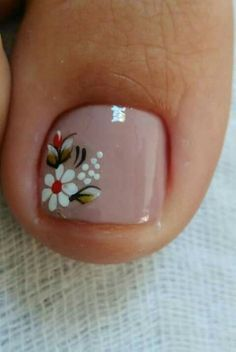 pedicure with flower design - Google Search