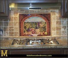 Wall Tile Murals Kitchen Backsplash | ... II by Rita Broughton - Kitchen Backsplash / Bathroom wall Tile Mural