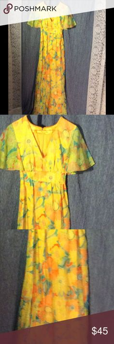 Selling this Vtg 1970s floral empire waist gown on Poshmark! My username is: patriciamildred. #shopmycloset #poshmark #fashion #shopping #style #forsale #Vintage #Dresses & Skirts