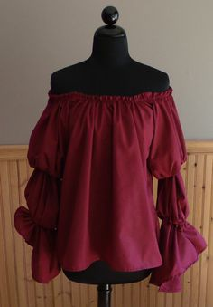 Pirate Wench Gypsy Renaissance Blouse Chemise by thewitchesspindle, $38.00
