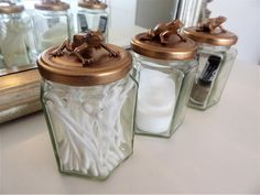 bronze/gold Frog Jar makeup storage pot for beauty tools, rose gold, brass colour, tropical m home accessory travel gift present fun decor Makeup Storage Pots, Jar Storage, Travel Accessories, Home Accessories, Decorative Items, Decorative Accessories, Rose Gold Makeup, Everyday Items, Travel Gifts