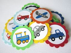 Transportation Vehicle Party Favor Tags or by adorebynat on Etsy, $3.85