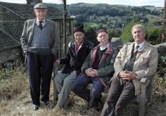 "Last of the Summer Wine (BBC) ""Howard"" (Robert Fyfe), ""Entwistle"" (Burt Kwouk), ""Alvin"" (Brian Murphy), and ""Hobo"" (Russ Abbott)"