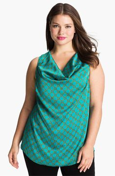 MICHAEL Michael Kors Chain Print Cowl Neck Top (Plus) available at #Nordstrom