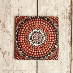 Aboriginal Acrylic dot painting on Canvas Board by RaechelSaunders