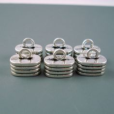 3 Sets Stainless Steel END CAPS Tips for 3mm Cord with 12mm Lobster Clasps UK