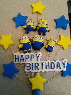 Handmade #minions #birthday cake #topper. ,  View more on the LINK: http://www.zeppy.io/product/gb/2/321950882765/