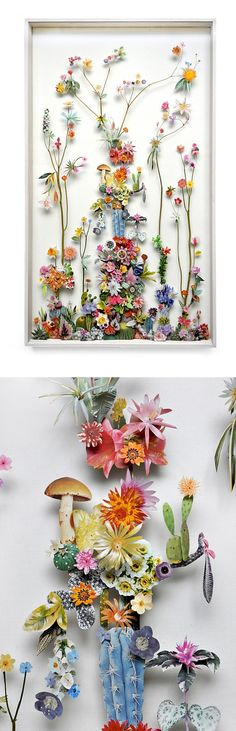 Floral sculptures / Anne Ten Donkelaar