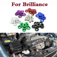 Car JDM Password Fender Washer License Plate Bolts styling For Brilliance FRV (BS2) H230 H530 M1 (BS6) M2 (BS4) M3 (BC3) V5