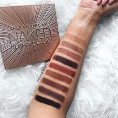 Urban Decay Naked Ultimate Basics palette SWATCHES!