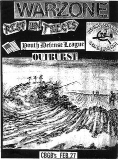 War Zone-Outburst-Rest In Pieces-Youth Defense League @ CBGB New York City NY 2-27-88