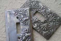 Pewter Light Switch Cover  Step by step on how to make a pewter light switch cover, presented by Joan