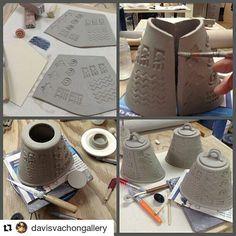 Pottery Making Info — 4 steps to making a slab vessel. #potterymaking...