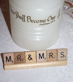 Mr & Mrs Wedding Scrabble Decor by HidingPlaceBoutique on Etsy