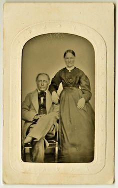 Tintype  Couple with Tinted Cheeks by aroundthesun