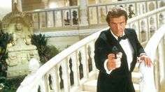 Roger Moore (pictured, as Bond) has claimed producers are hoping to feature Sir Roger, Connery, George Lazenby, Timothy Dalton and Pierce Brosnan together on screen in a Bond equivalent of The Expendables Pierce Brosnan, Roger Moore, Tina Hudson, George Lazenby, Timothy Dalton, Best Bond, James Bond Movies, Irish Boys, Movies