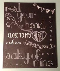 baby mine chalk art - Google Search