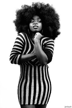 Brilliant fro. To learn how to grow your hair longer click here - http://blackhair.cc/1jSY2ux