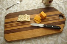 Cherry and Black Walnut cutting board 18 inches by SelectWoodcraft
