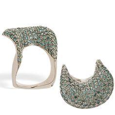 "Tilden Ross - Io Si Scavia ""Dionea"" 18k White Gold and Diamond Ring"