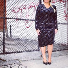 We've got the perfect holiday dress for you - sparkle in this sequin @carmakoma LBD!  #plussize #plussizefashion #plussizestyle #psfashion #psstyle #psblogger #fatshion #effyourbeautystandards #honormycurves #curves #curvy #torontofashion #primaala #beautyislimitless #plussizeootd #psootd #ootd #sequin #lbd #blackdress #braid #graffiti #pattern #heels #holidays #sparkle #shopping