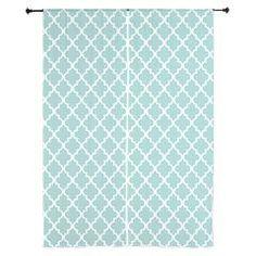 "Mint Quatrefoil Pattern 84"" Curtains> Curtains> Heartlocked"