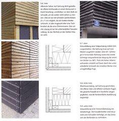 Beschreibung Aufbau holzfassade Timber Architecture, Architecture Details, Bungalows, Larch Cladding, Shed Construction, Wooden Facade, Wood Panel Walls, Modern, Ferret