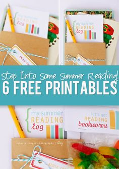 FREE Summer Reading Printables! Great ideas to keep the kids learning throughout the summer! #reading #printables #school