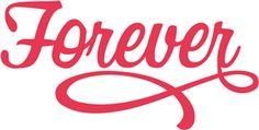 Silhouette Online Store - View Design #24900: forever monogram phrase