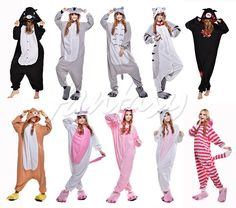 Cute Unisex Pajamas Kigurumi Cosplay Costume Animal Onesie Sleepwear Suit Hot ! #Unbranded #SleepwearCosply