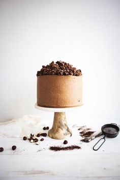 Chocolate Hazelnut Crunch Cake // Honest Cooking