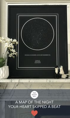 Was it your first kiss, the birth of a child or that moment you realized your world had changed forever. Give a gift of the stars to always remember that special night.   Create an 50cm x 70cm star map of the night your heart skipped a beat. Printed on the finest Art Matte paper using archival ink. This wall art is of the highest quality.