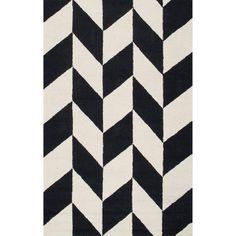 nuLOOM Handmade Mod Tiles Wool Black and White Rug (7'6 x 9'6) |  $240