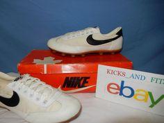 on sale 43ad6 b0d2f Vtg 1979 Nike Turf Star Soccer Shoes New in Maple Leaf Box Korea Original  OG