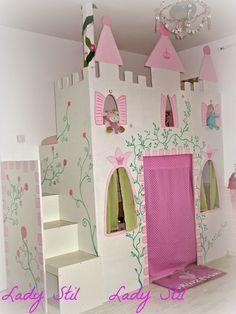 Prinzessinnen-Schloss-Hochbett Ikea Hack