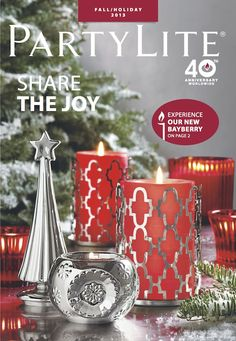 PartyLite Fall/Holiday catalog candles @ www. Beautiful Candles, Best Candles, Pillar Candles, Christmas Websites, Candle Picture, Partylite, Lets Celebrate, Catalogue, Scented Candles
