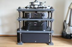 awesome home built hifi rack made of ikea lack coffee. Black Bedroom Furniture Sets. Home Design Ideas