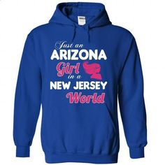 An ARIZONA-NEW JERSEY girl Pink04 - #party shirt #tshirt typography. SIMILAR ITEMS => https://www.sunfrog.com/States/An-ARIZONA-2DNEW-JERSEY-girl-Pink04-RoyalBlue-Hoodie.html?68278