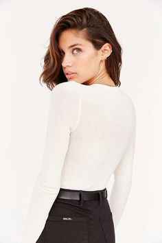 Project Social T Plunge Lace-Up Top - Urban Outfitters