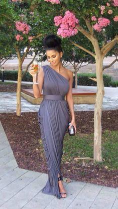 #Dress #bridesmaid #grey