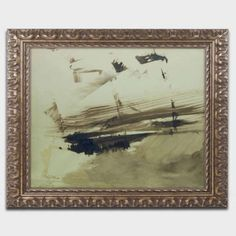 Trademark Fine Art Evocation of An Island, 1870 inch Canvas Art by Victor Hugo, Gold Ornate Frame, Size: 11 x 14