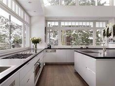 boffi Galley Kitchen Design, Modern Kitchen Design, Kitchen And Bath, New Kitchen, Master Bedroom Bathroom, Boffi, Living Room Cabinets, Layout, House Floor Plans