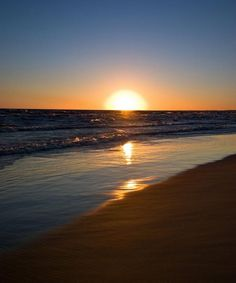 Awesome >>  a beautiful setting sun on the beach inspires me to take a deep breath and just be.